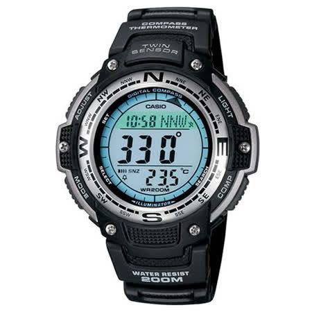 CASIO SPORTS 極限武士數位羅盤運動錶