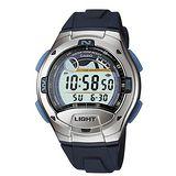 CASIO 潮汐悍將膠帶運動電子錶(藍)