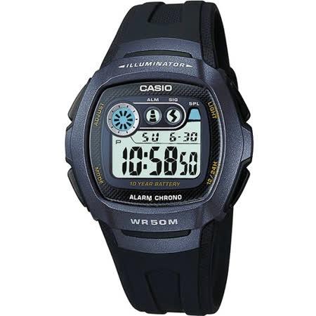 CASIO 兩地時間商務錶(藍黑)