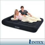 【INTEX】舒適型雙人植絨充氣床墊(寬137cm)-有頭枕設計 (66768)