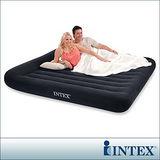 【INTEX】舒適型雙人特大植絨充氣床墊(寬183cm)-有頭枕 (66770)