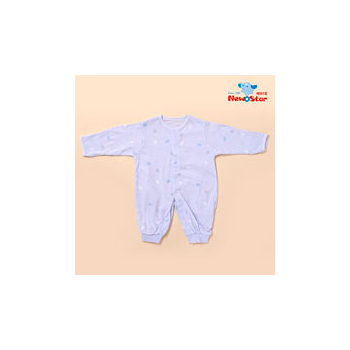 【聖哥-明日之星Newstar】MIT可愛兔兔嬰兒實穿兔衣/長袍/睡袍/褲子(長袖、釦子)-藍 粉紅 -兔子- 可愛實穿推薦 2穿推薦