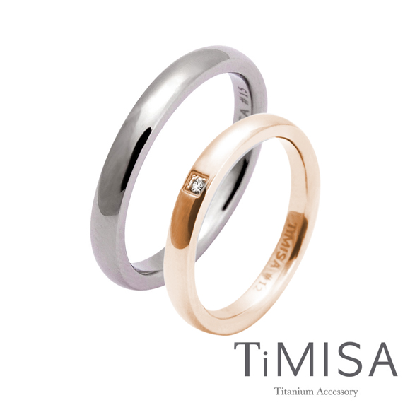 【TiMISA】單純+愛戀 純鈦對戒(雙色可選)