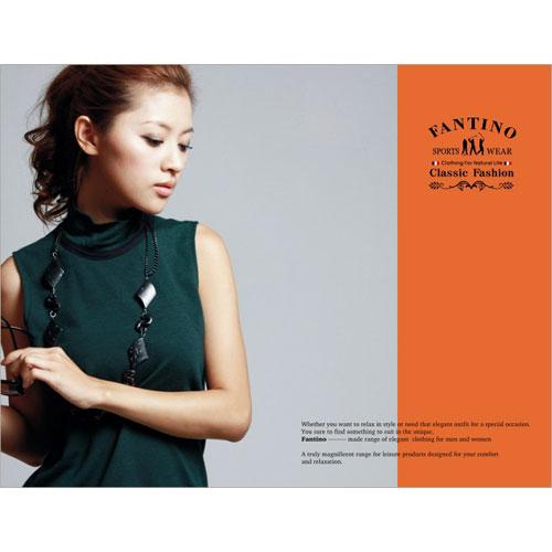 FANTINO【品牌折扣】無袖輕薄羊毛背心(綠) 725641
