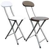 木製高背椅座-折疊椅子(6入/組)[二色可選)