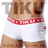 TIKU 梯酷 ~ 紋身系-紅圖騰 棉質(含彈性纖維面料) 平口內褲(WC1816)