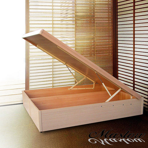 【Maslow-白橡特高型】雙人掀床架-5尺(不含床墊)