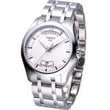 TISSOT Couturier 建構師系列 機械腕錶-白T0354071103100
