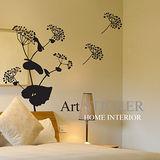 Art STICKER璧貼 。 飄浮的蕾絲花