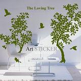 Art STICKER璧貼。The Loving Tree