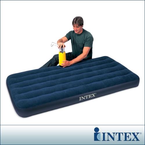 【INTEX】單人加大植絨充氣床墊-寬99cm  68757
