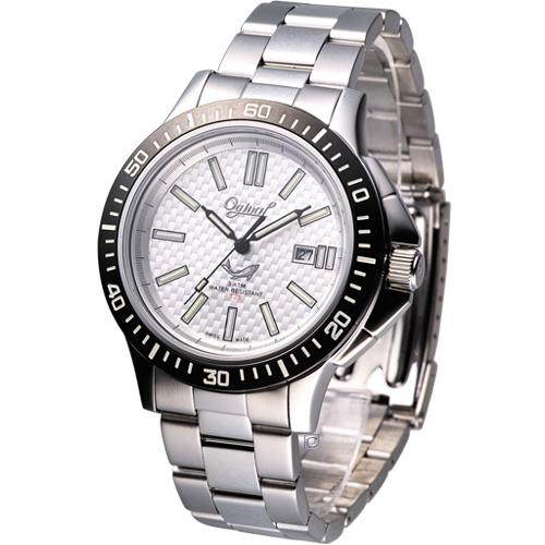 Ogival 夜鷹系列  自體發光時尚腕錶8003TMS