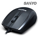 SANYO三洋 SYMS-M8 USB光學環保滑鼠(高雅黑)