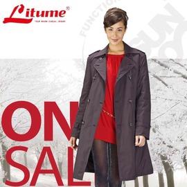 【意都美 Litume】 3 In 1 二件式100%防水透氣防風中長版羽絨外套 F3112 黑