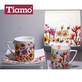 Tiamo 冬季花卉咖啡杯盤組GW-093B (HG0495)
