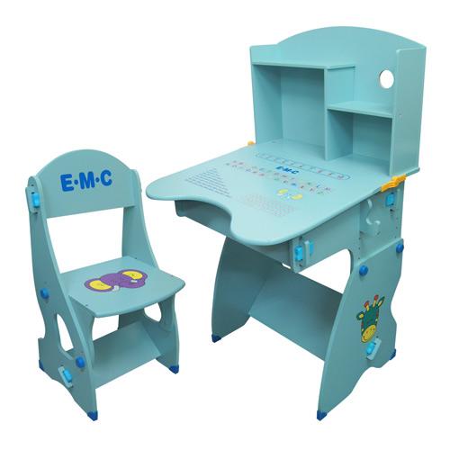 EMC 成長升降書桌(水藍色/粉紅色)