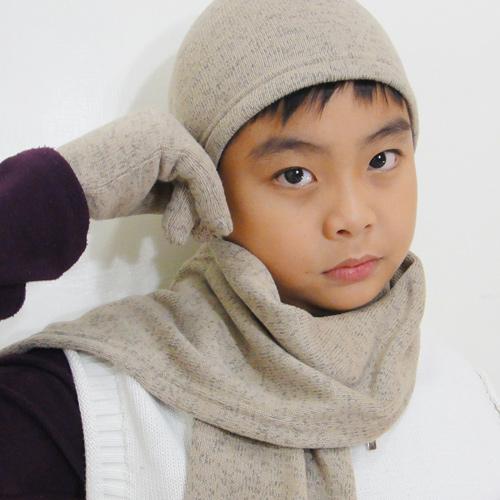 【CoFeel酷咖絨】咖啡混紡兒童帥氣保暖三件組_咖啡色