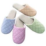 任選【MORINO】菱格紋室內拖鞋