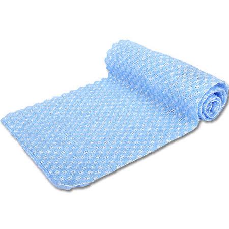 【竹炭日用品任選】竹炭雙面毛刷沐浴巾(CP965-4 藍) -friDay購物