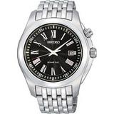 SEIKO 羅馬都會人動電能鋼帶腕錶(5M62-0CL0D-黑