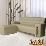 MNJ-幸福家居L型獨立筒沙發206cm(卡其)
