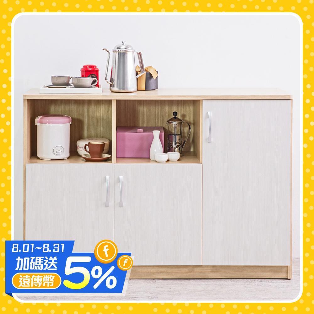 120cm大尺寸 三門二格廚房收納櫃