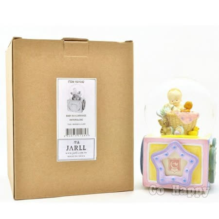 【可愛Baby】相片旋轉水晶球音樂盒 -friDay購物