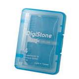 DigiStone 4片裝記憶卡多功能收納盒/ 藍色(1個)