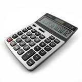 【CASIO】卡西歐(灰翼)簡約商用計算機AEE-DX120ST