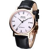 EPOS 典藏時尚 紳士機械錶3387.152.24.20.15玫瑰金色