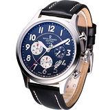 Revue Thommen 航空飛行 計時腕錶(16062.6537)黑色
