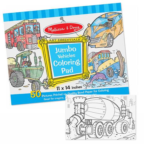 美國 Melissa & Doug 大型兒童繪圖本【交通工具】
