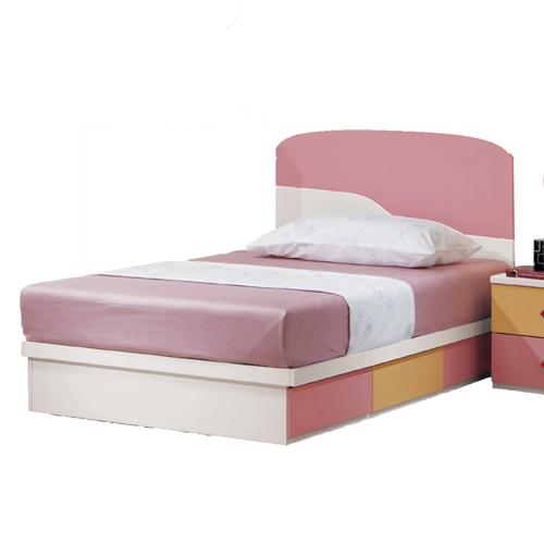 【優利亞-粉紅世界】3.5尺單人床頭片+抽屜床座(不含床墊)