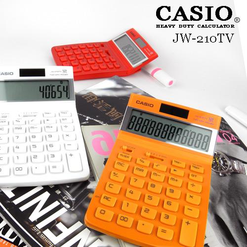 【CASIO】COLOR玻璃鏡面桌上型計算機(共3色可選) JW-210TV