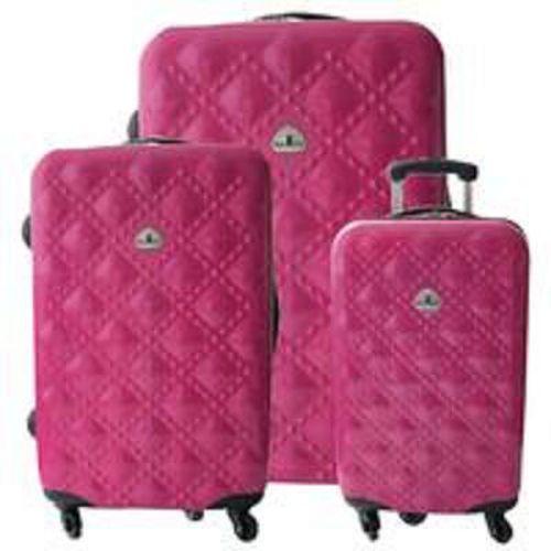 BEAR BOX 時尚香奈兒★PC亮面輕硬殼旅行箱3件組