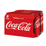 可口可樂易開罐330ml*6入
