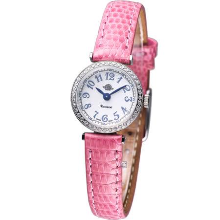 Rosemont 茶香玫瑰系列 超薄時尚錶TRS010-03SV-LE-PK粉色
