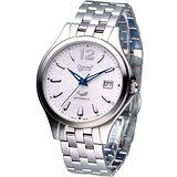 Ogival 愛其華 尊爵時尚機械錶829-24AGS銀白色款