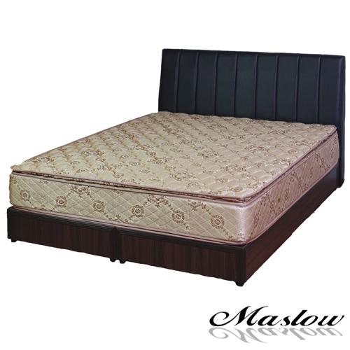 【Maslow-線條混搭】雙人床組-5尺(不含床墊)-黑