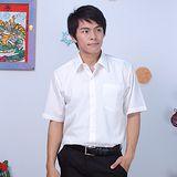 JIA HUEI 男仕短袖防皺襯衫 海島棉 米白色 [台灣製造]