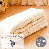 【名流寢飾】U.S.POLO.馬來西亞進口純天然乳膠床墊.厚度7.5cm-標準雙人