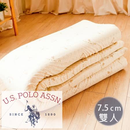 名流寢飾 U.S.POLO 純天然乳膠床墊-雙人