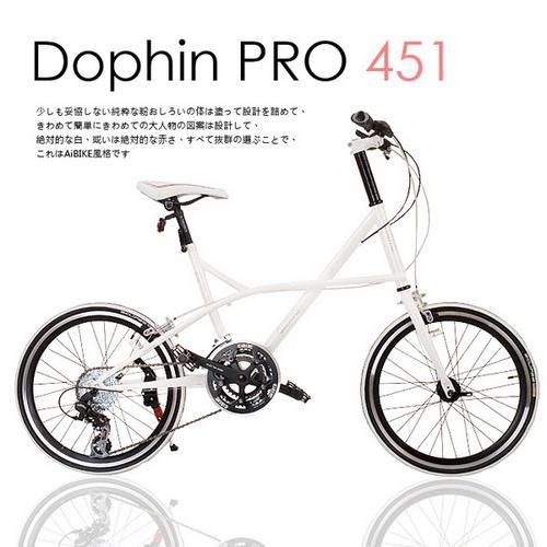 【AiBIKE】SHIMANO 20吋24速 Dolphin PRO 小徑車 雪白限定版 升級451輪組 七夕情人款