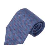 TRUSSARDI 細緻LOGO時尚領帶-藍色