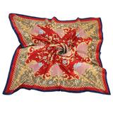 Christian Dior 滿版雕花鎖鍊框邊(大)領巾-紅色
