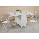 《C&B》方形折疊多用途蝴蝶桌椅組(一桌四椅)