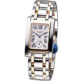 浪琴錶 LONGINES 多情經典系列女用石英錶L55025717雙色款23X27mm
