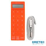 【日本DRETEC】便利計算機&計時器一機兩用-橘