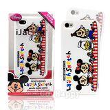 【日本進口迪士尼】豆豆眼米奇與朋友們iPhone4 軟式手機背蓋/殼