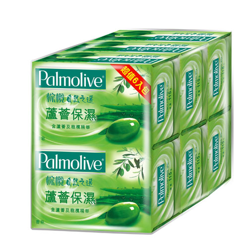 ★買一送一★棕欖自然之選香皂-蘆薈保濕115g*6